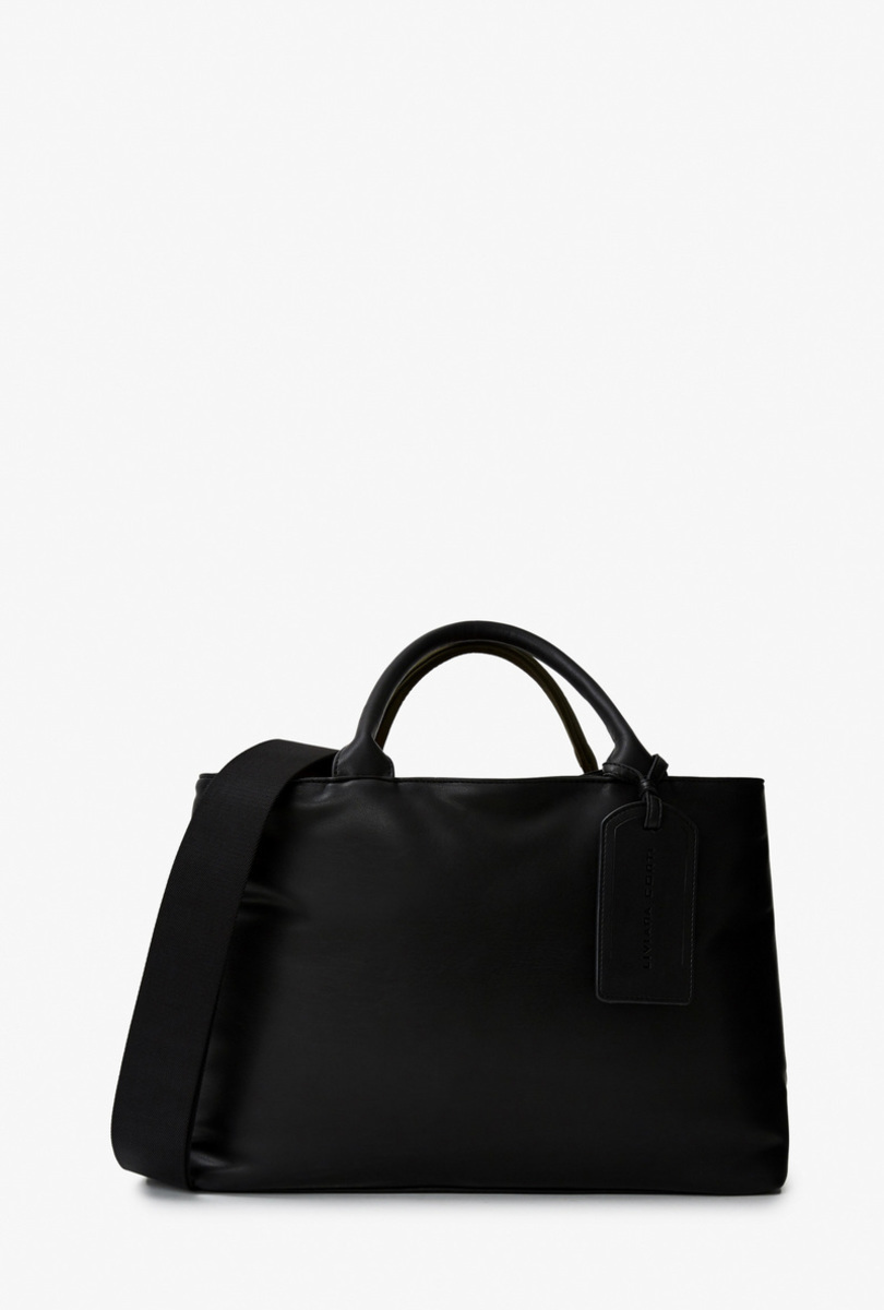 Nylon and faux-leather bag