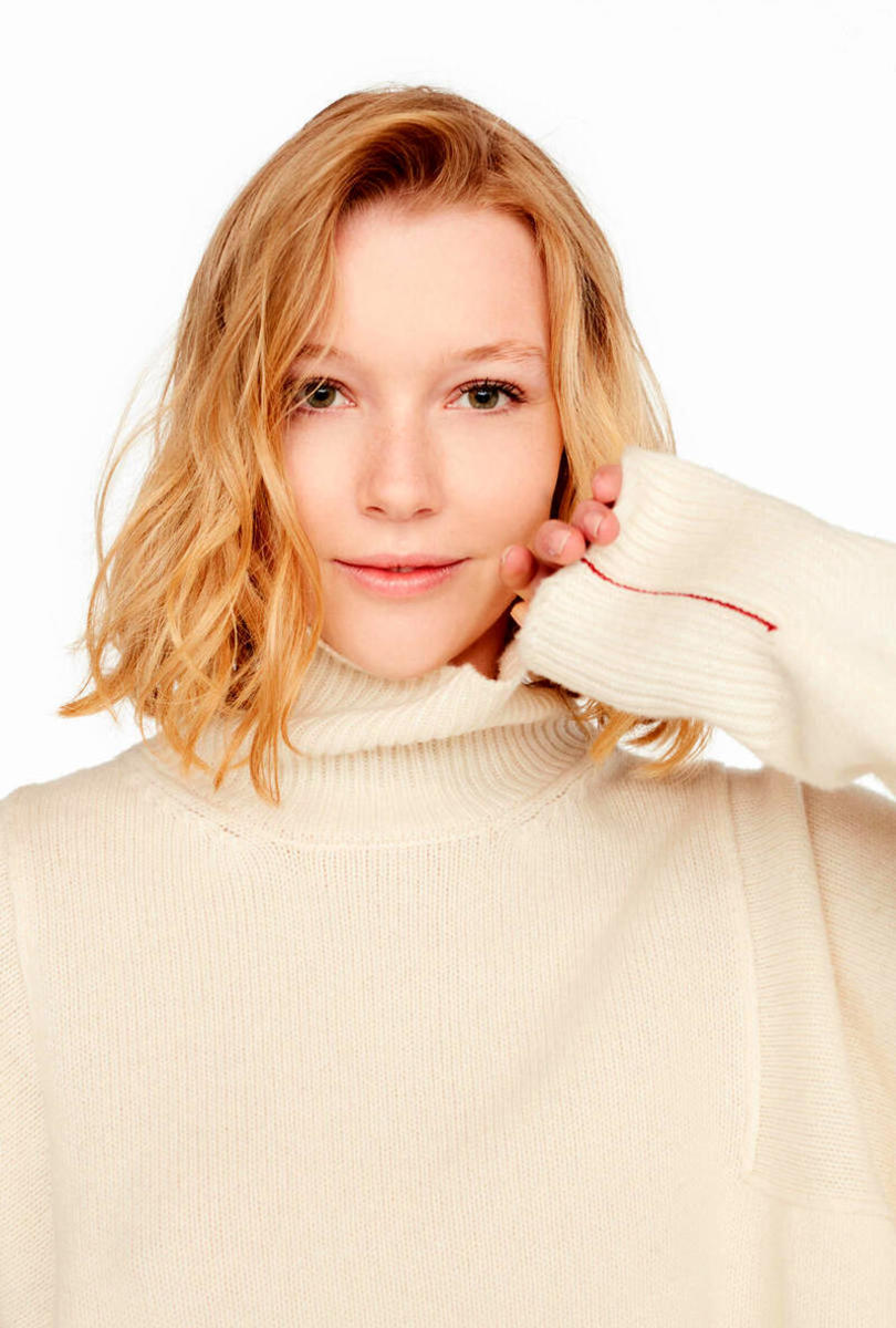 Oversize wool and cashmere jumper