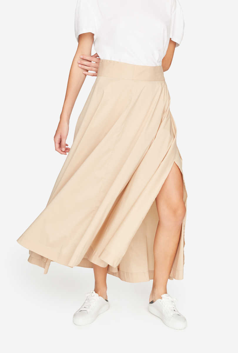 Long flared skirt