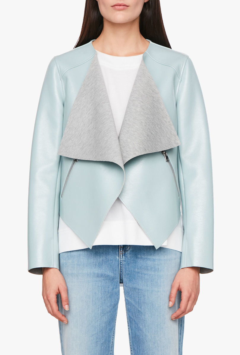 Patent-effect jacket