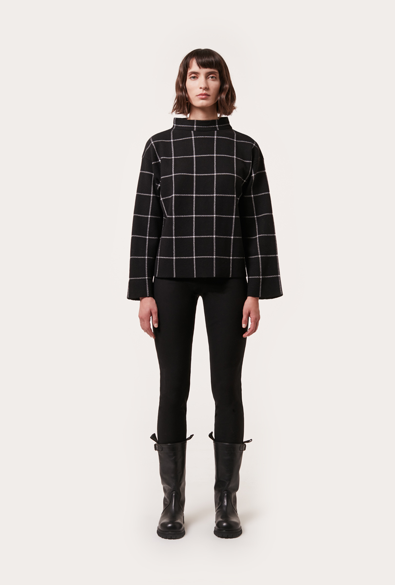 check jacquard knit