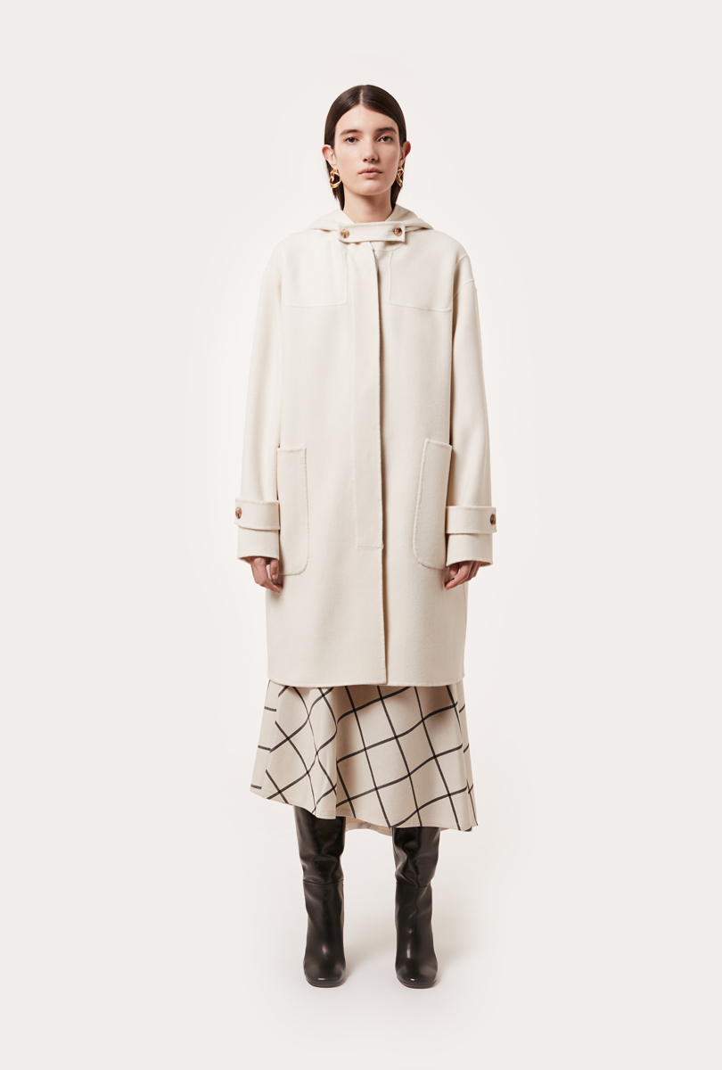 wool cloth montgomery coat